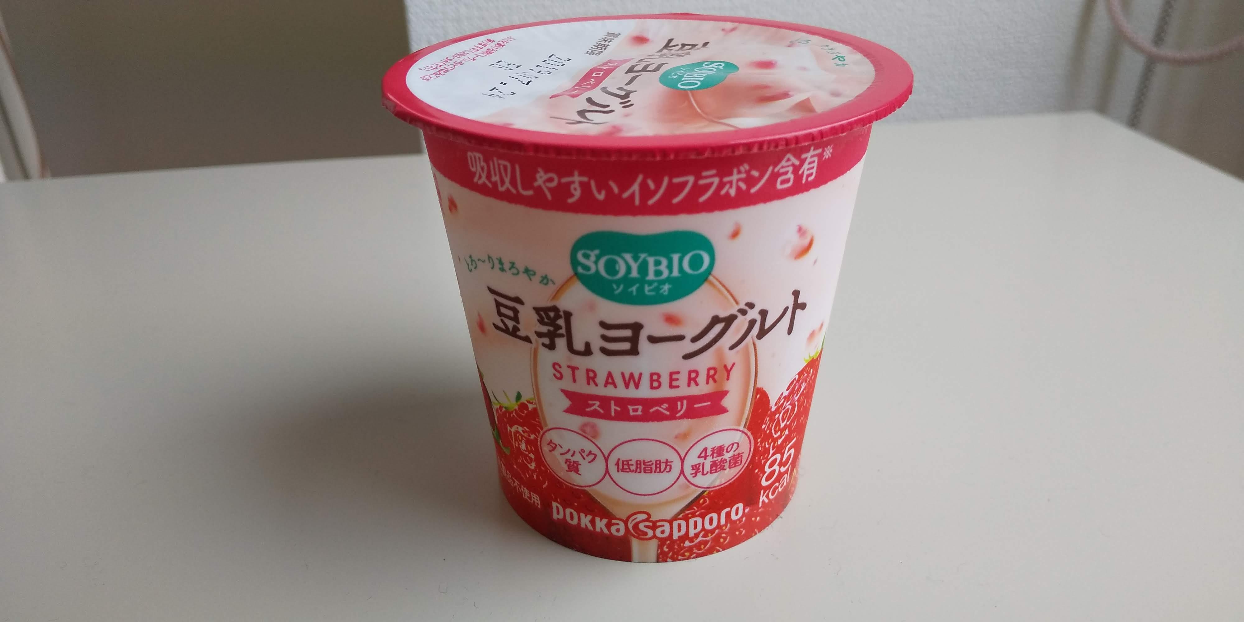 ポッカサッポロ【ソイビオ豆乳ヨーグルトストロベリー】