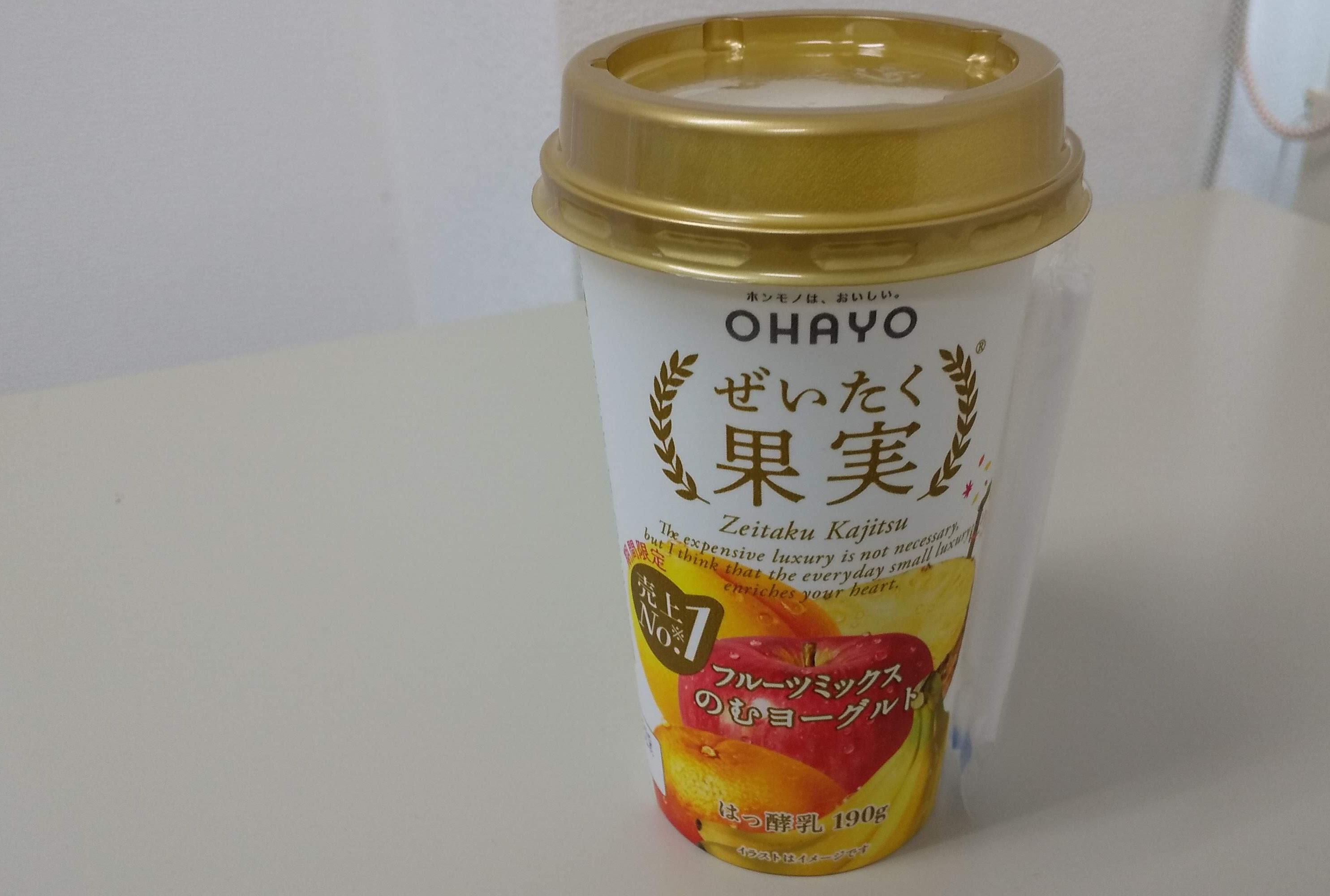 OHAYO【ぜいたく果実フルーツミックスのむむヨーグル】ト
