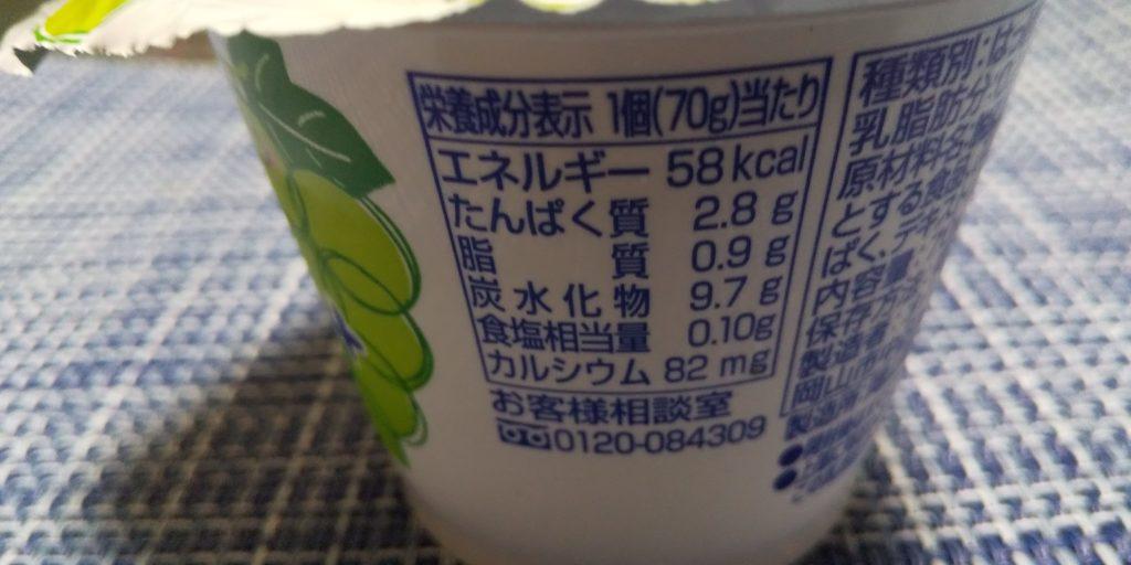 マスカットのヨーグルト栄養成分
