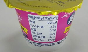 乳マイルドヨーグルトいちご栄養成分表示