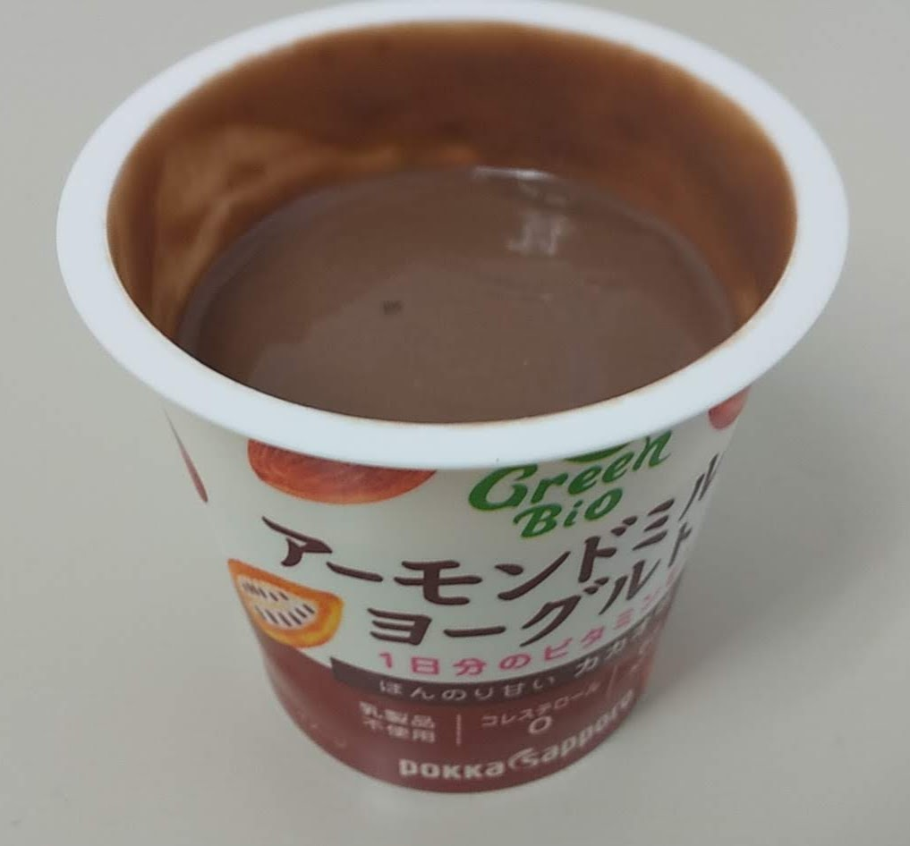 GreenBioアーモンドミルクヨーグルトカカオ味レビュー