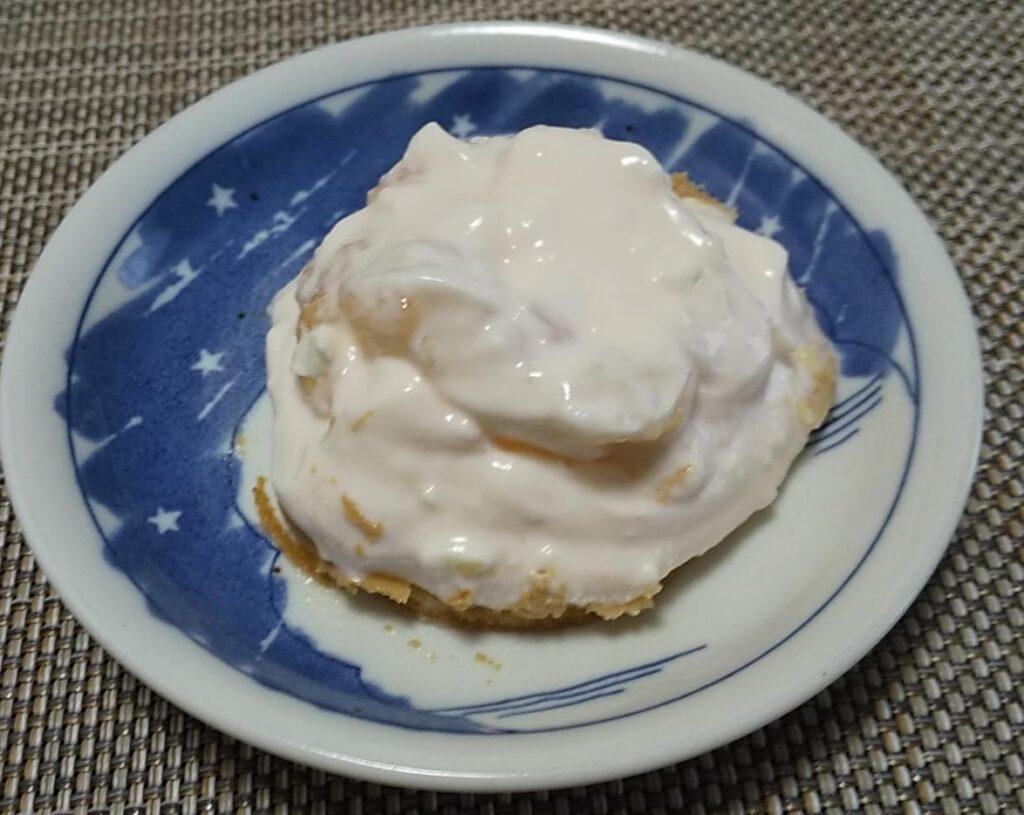 ゼラチンに対して水分量が多すぎた失敗作のヨーグルトチーズケーキもどき